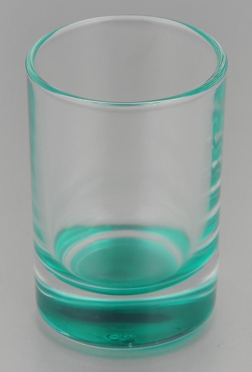 Стопка OSZ Лак микс, цвет: прозрачный, бирюзовый, 50 мл02С1022 ЛМ_прозрачный, бирюзаСтопка OSZ Лак микс изготовлена из прозрачного стекла с цветным донышком. Идеально подходит для крепких спиртных напитков. Такая стопка станет отличным дополнением сервировки стола. Диаметр стопки (по верхнему краю): 4,5 см. Диаметр основания: 4 см. Высота стопки: 7 см.