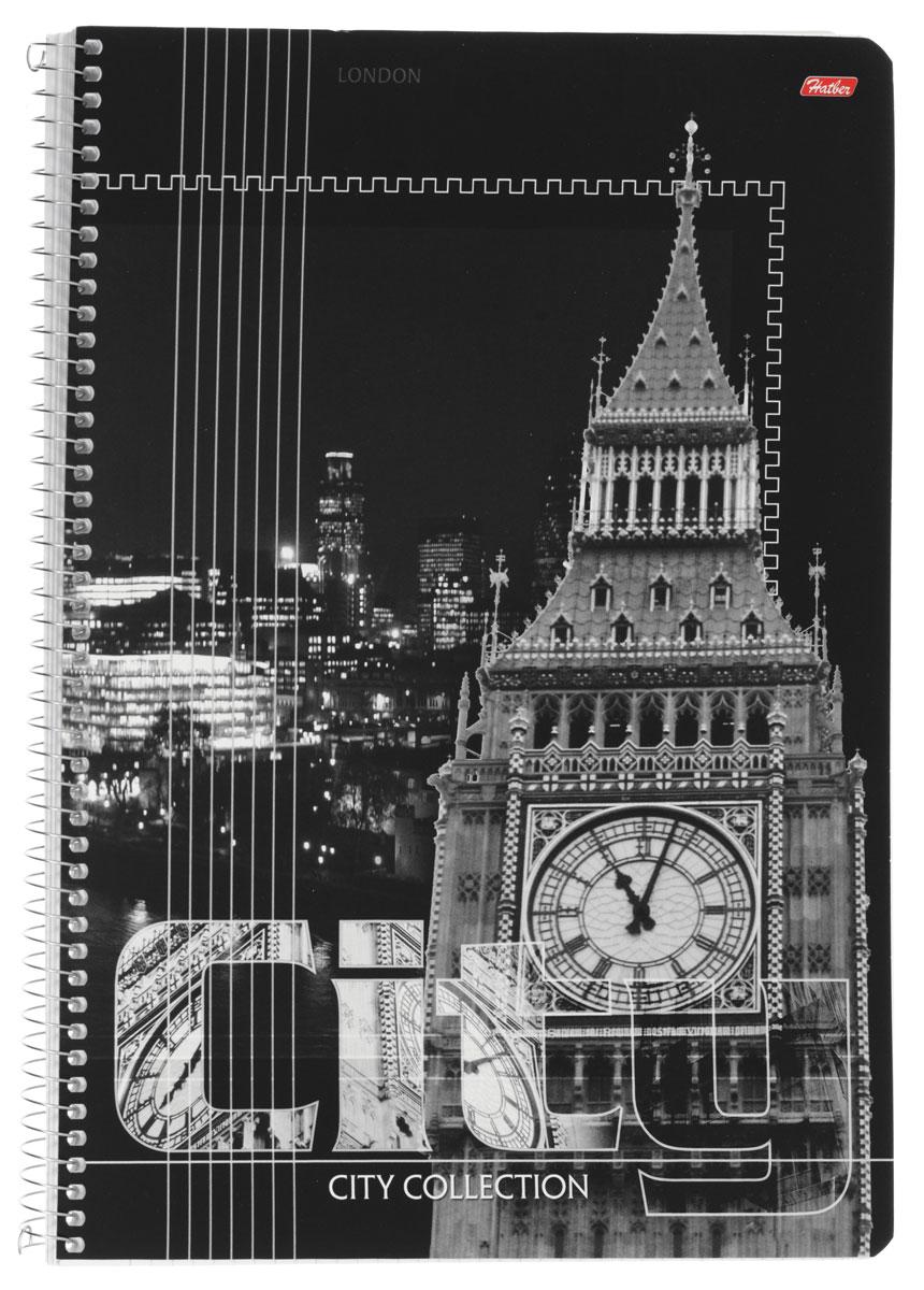 Hatber Тетрадь City Collection London 80 листов в клетку80Т4вмB1сп_LondonТетрадь Hatber City Collection. London отлично подойдет для занятий как школьнику старших классов, так и студенту. Стильная обложка в черно-белых тонах с изображением Биг Бэна, выполненная из плотного мелованного картона, позволит сохранить тетрадь в аккуратном состоянии на протяжении всего времени использования. Внутренний блок тетради, соединенный металлической спиралью, состоит из 80 листов белой бумаги в голубую клетку без полей.