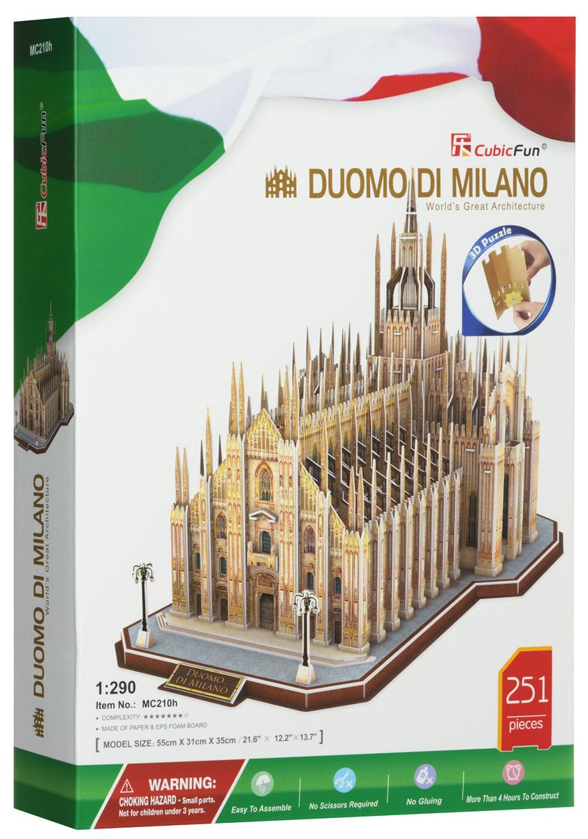 CubicFun 3D Пазл Миланский СоборMC210hМиланский собор или Дуомо ди Милано, как называют его сами миланцы, является, пожалуй, одной из ярчайших достопримечательностей в Европе. Пятый по величине в мире собор, жемчужина итальянской готики и единственная в Европе беломраморная готическая базилика, история которой насчитывает более шести столетий. Архитектура Миланского собора поражает не только фасадом, но и внутренним убранством - высоченные потолки, грандиозные колонны, мозаичные потолки и множество статуй, главная из которых - золотое изваяние покровительницы Милана. Именно под этими величественными сводами был коронован король Италии и император французов Наполеон I Бонапарт. Теперь у вас есть возможность воссоздать это удивительное архитектурное сооружение, символ Милана, с замечательным набором Cubic Fun Миланский Собор. Это необычный 3D пазл, который точно воссоздает объемную масштабированную (1:290) модель своего прототипа. Для сборки не нужен клей, детали отлично совмещаются друг с другом. Собирая пазл,...