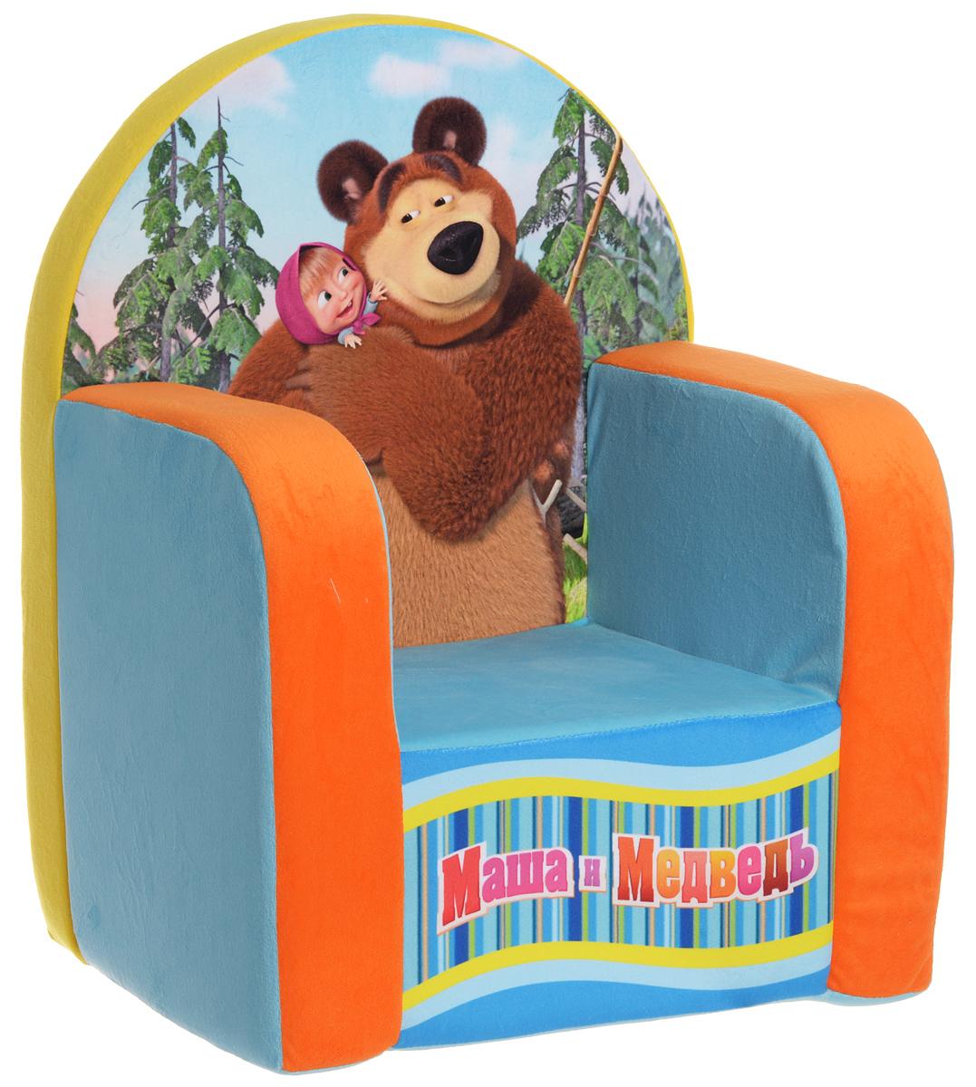 СмолТойс Мягкая игрушка Кресло Маша и Медведь 54 см
