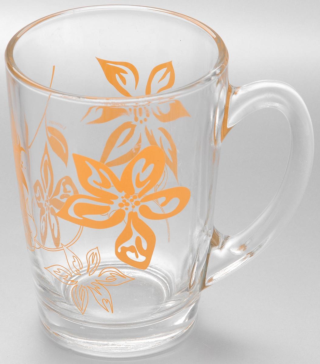 Кружка Luminarc Lily Flower, 320 мл. J8J8Кружка Luminarc Lily Flower изготовлена из упрочненного стекла. Такая кружка прекрасно подойдет для горячих и холодных напитков. Она дополнит коллекцию вашей кухонной посуды и будет служить долгие годы. Диаметр кружки (по верхнему краю): 8 см.