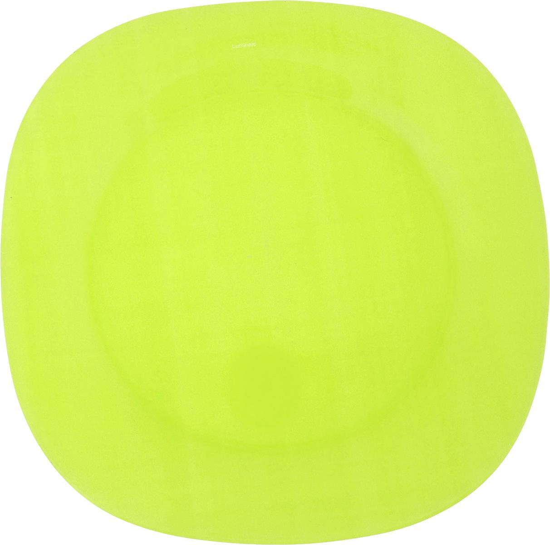 Тарелка обеденная Luminarc Colorama Green, 25,5 х 25,5 смJ7762Обеденная тарелка Luminarc Colorama Green, изготовленная из высококачественного стекла, имеет изысканный внешний вид. Яркий дизайн придется по вкусу и ценителям классики, и тем, кто предпочитает утонченность. Тарелка Luminarc Colorama Green идеально подойдет для сервировки вторых блюд из птицы, рыбы, мяса или овощей, а также станет отличным подарком к любому празднику. Размер тарелки (по верхнему краю): 25,5 х 25,5 см.
