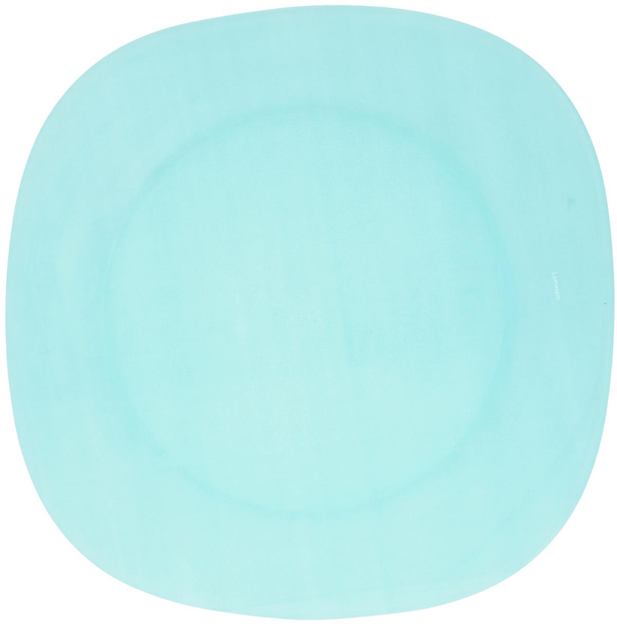 Тарелка обеденная Luminarc Colorama Blue, 25,5 х 25,5 смJ7756Обеденная тарелка Luminarc Colorama Blue, изготовленная из высококачественного стекла, имеет изысканный внешний вид. Яркий дизайн придется по вкусу и ценителям классики, и тем, кто предпочитает утонченность. Тарелка Luminarc Colorama Blue идеально подойдет для сервировки вторых блюд из птицы, рыбы, мяса или овощей, а также станет отличным подарком к любому празднику. Размер тарелки (по верхнему краю): 25,5 х 25,5 см.