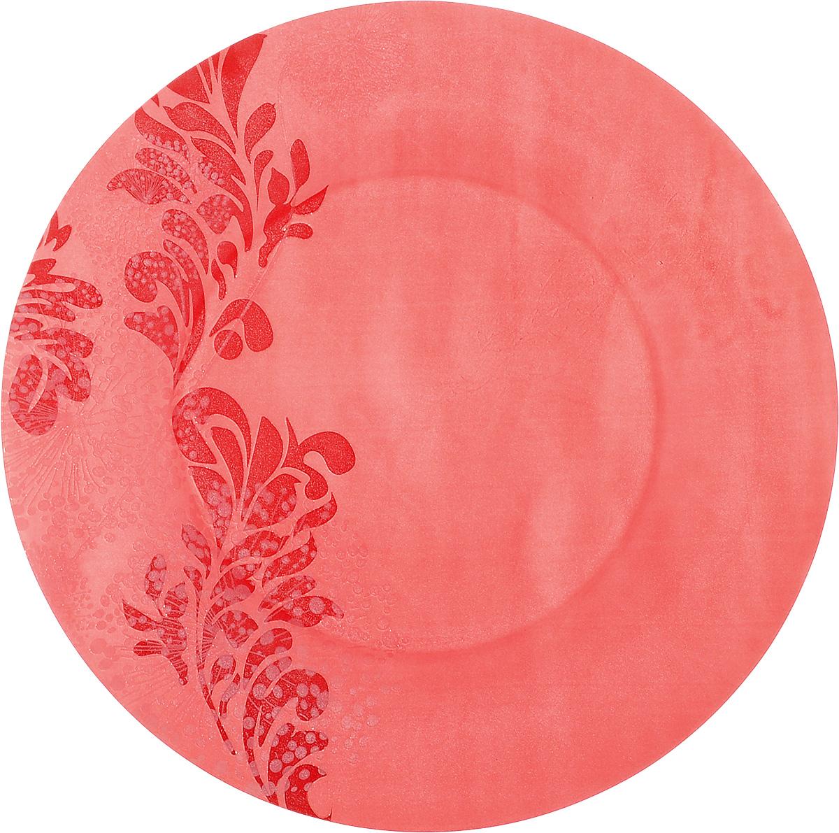 Тарелка обеденная Luminarc Piume Red, диаметр 25 смJ7537Обеденная тарелка Luminarc Piume Red, изготовленная из ударопрочного стекла, имеет изысканный внешний вид. Яркий дизайн придется по вкусу и ценителям классики, и тем, кто предпочитает утонченность. Тарелка Luminarc Piume Red идеально подойдет для сервировки вторых блюд из птицы, рыбы, мяса или овощей, а также станет отличным подарком к любому празднику. Диаметр тарелки (по верхнему краю): 25 см.