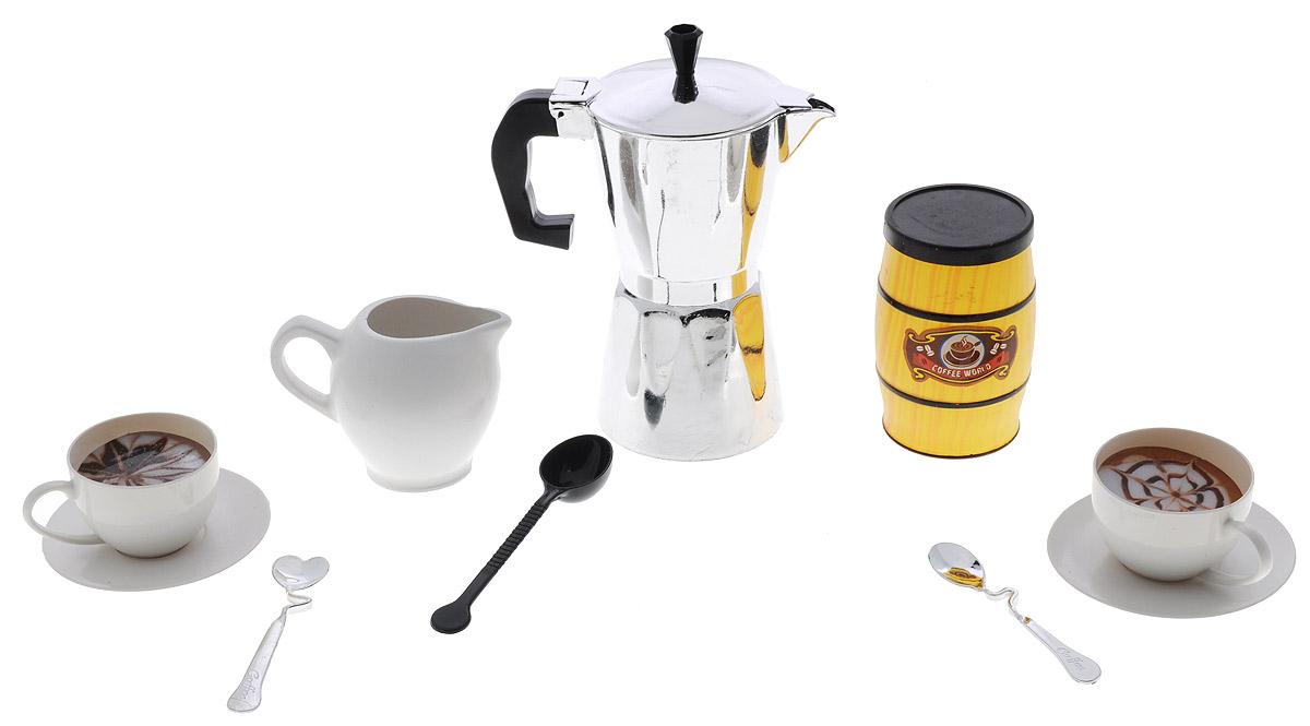 ABtoys Кофейный набор с банкой Coffee World