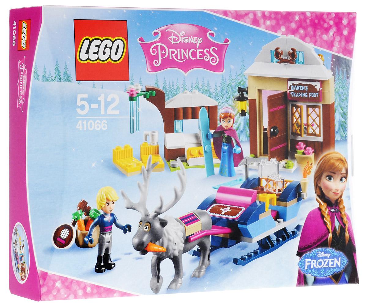 LEGO Disney Princesses Конструктор Анна и Кристоф Прогулка на санях 4106641066Присоединитесь к Анне и Кристофу, которые отправляются в путешествие на санях, чтобы вернуть лето в Эренделл. Остановитесь у магазинчика Блуждающий дуб и выпейте горячего шоколада, но не забудьте захватить морковки для северного оленя Свена. Перед тем как крепко заснуть спойте вместе с Кристофом под его банджо. Рано утром продолжите путешествие по замерзшей сказочной стране с новыми друзьями! Набор включает в себя 174 разноцветных пластиковых элемента. Конструктор - это один из самых увлекательных и веселых способов времяпрепровождения. Ребенок сможет часами играть с конструктором, придумывая различные ситуации и истории.