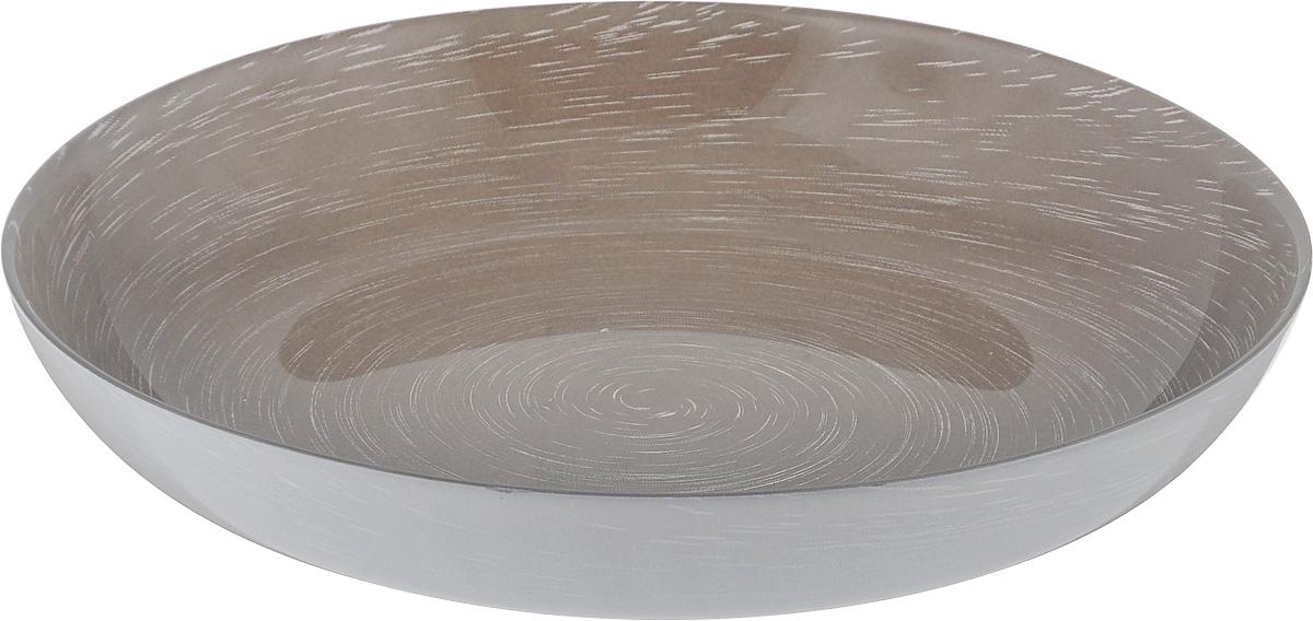 Тарелка глубокая Luminarc Stonemania Grey, диаметр 20 смH3548Глубокая тарелка Luminarc Stonemania Grey выполнена из ударопрочного стекла и имеет классическую круглую форму. Она прекрасно впишется в интерьер вашей кухни и станет достойным дополнением к кухонному инвентарю. Тарелка Luminarc Stonemania Grey подчеркнет прекрасный вкус хозяйки и станет отличным подарком. Диаметр тарелки (по верхнему краю): 20 см.