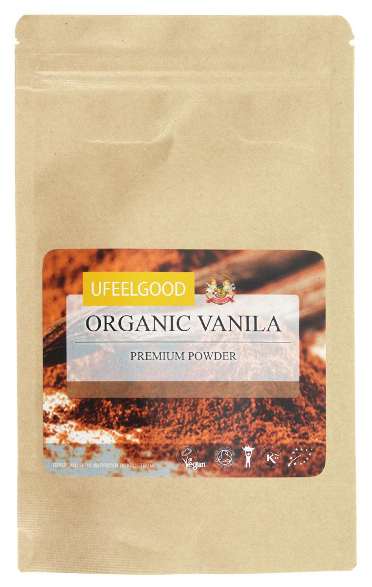 UFEELGOOD Organic Vanilla Premium Powder органическая ваниль молотая, 50 г072Ваниль от является единственным представителем орхидных, который можно употреблять в пищу. Она имеет сложный насыщенный вкус, который включает в себя около 250 органических компонентов и может варьироваться в зависимости от региона произрастания. Экстракт натурального ванилина издавна считался целебным. Индейцы приписывали порошку ванили способность исцелять болезни горла, кашель, озноб, лихорадку, использовали как противоядие при укусах змей. Европейцы применяли ваниль при повышенной возбудимости и ревматизме. Вы можете купить ваниль от UFEELGOOD, выращенную на лучших плантациях Индии. Термоупаковка, в которой бережно хранится продукт, позволяет донести до потребителя его самые лучшие качества.