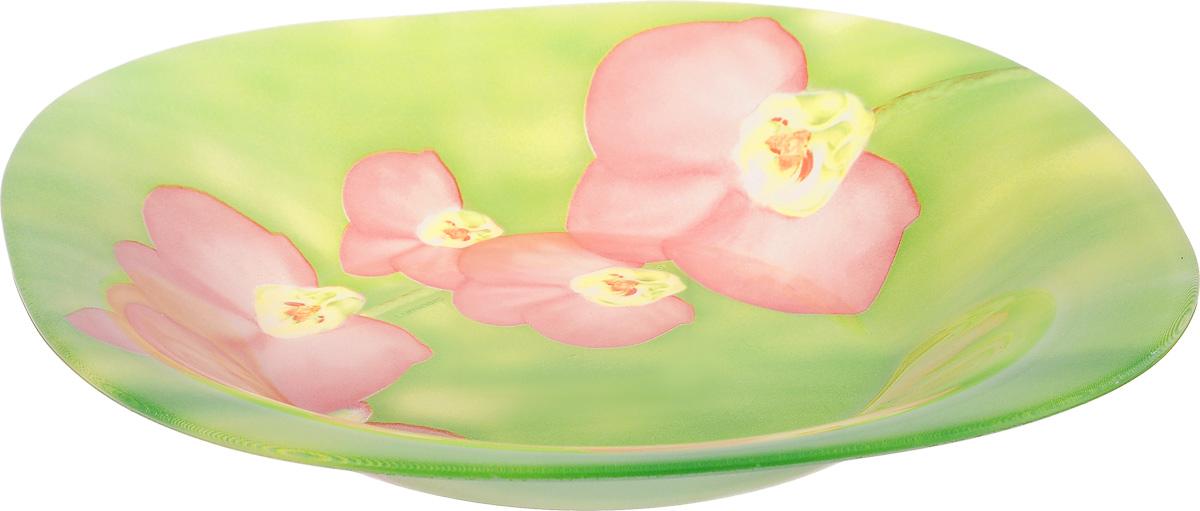 Тарелка глубокая Luminarc Carine Erine, 20 х 20 смJ7912Глубокая тарелка Luminarc Carine Erine выполнена из ударопрочного стекла и оформлена цветочным рисунком. Изделие сочетает в себе изысканный дизайн с максимальной функциональностью. Она прекрасно впишется в интерьер вашей кухни и станет достойным дополнением к кухонному инвентарю. Тарелка Luminarc Carine Erine подчеркнет прекрасный вкус хозяйки и станет отличным подарком. Размер (по верхнему краю): 20 х 20 см.