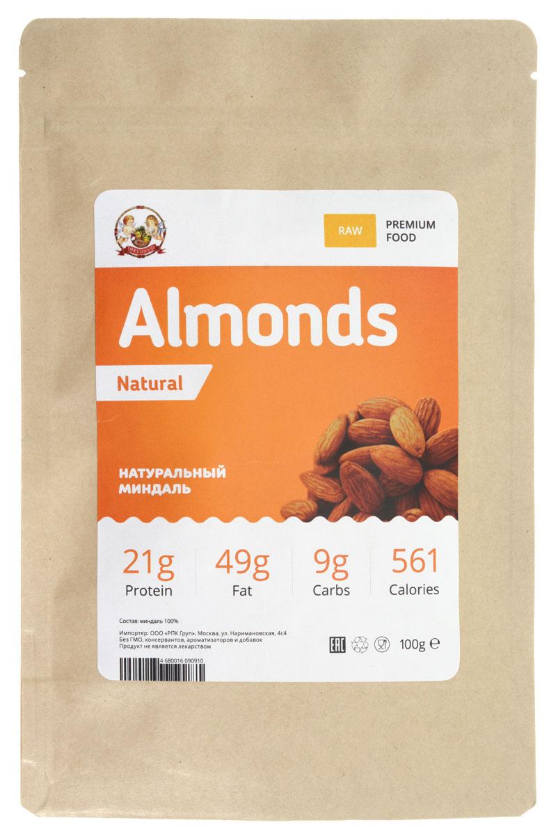 UFEELGOOD Almonds Natural натуральный орех миндаль, 100 г