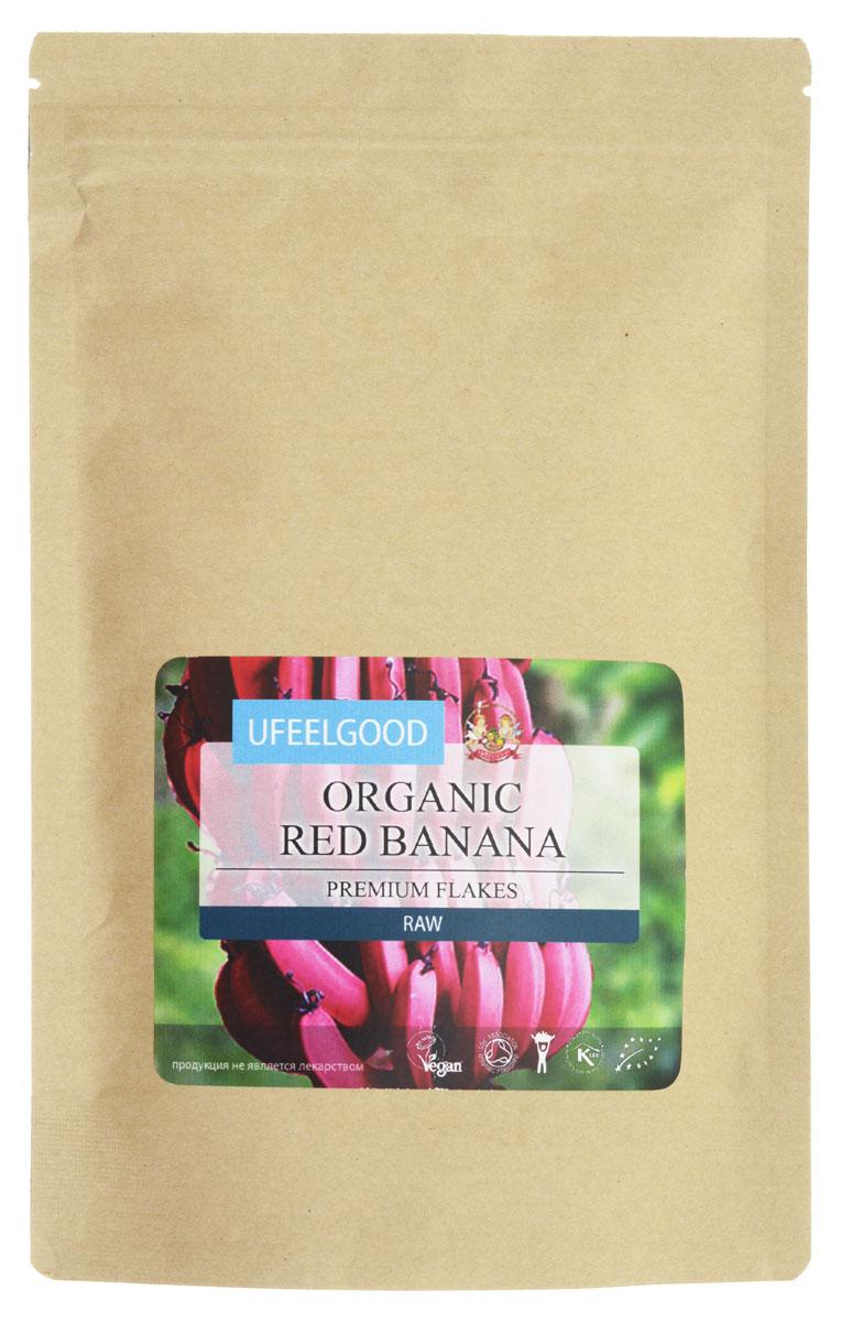 UFEELGOOD Organic Red Banana Flakes органический красный банан мелко молотый, 200 г