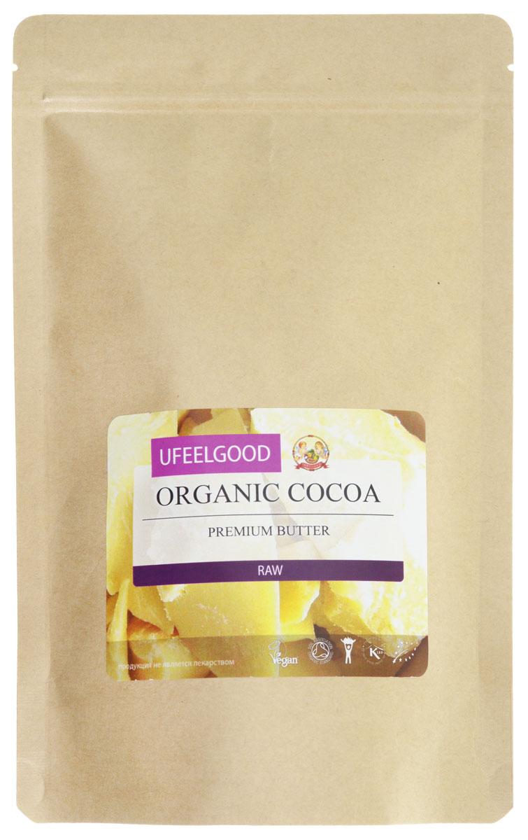 UFEELGOOD Organic Cocoa Premium Butter органическое какао масло, 200 г111Какао - масло UFEELGOOD прошло сертификацию, оно является необработанным натуральным продуктом. Масло из какао бобов получают путём холодного прессования, что позволяет сохранять и сконцентрировать в масле все полезные свойства растения. Масло какао обладает многими полезными свойствами: Замедляет старение кожи Восстанавливает водный баланс Разглаживает морщины Поддерживает здоровье сердца Снижает кровяное давление Снижает угрозу сердечно - сосудистых заболеваний Какао - масло рекомендуют употреблять не только в пищу, но и наружно для местного увлажнения, смягчения кожи. Оно эффективно при лечении дерматита, помогает при появлении шрамов, растяжек. Наше перуанское какао масло признано самым вкусным и полезным шоколадным продуктом. Оно исключает добавление химических усилителей вкуса и сахаров.