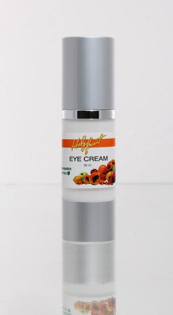 Holy Fruit Крем вокруг глаз Eye Cream, 30 мл7290008564373Крем обладает деликатной, тонкой текстурой. Моментально впитывается, надолго оставляя ощущение легкости и комфорта. Видимый результат и пролонгированное действие. Натуральные антиоксиданты, содержащиеся в масле дикой моркови, разглаживают и оживляют даже увядающую кожу. Особая формула сочетания масел лаванды, энотеры, лесного ореха, розового дерева, жожоба, виноградных косточек и другие компоненты регенерируют клетки эпидермиса, наполняют их энергией, поддерживают необходимое увлажнение, разглаживают морщинки. Крем обладает защитными свойствами, убирает следы застойных явлений. При регулярном применении возникает устойчивый эффект омоложения, увлажненности и улучшающего настроения.
