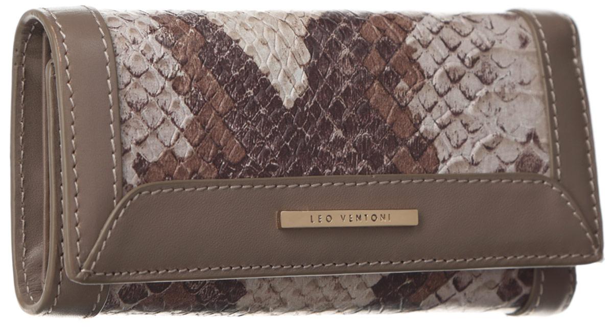 Ключница женская Leo Ventoni, цвет: бежевый, коричневый. L330805
