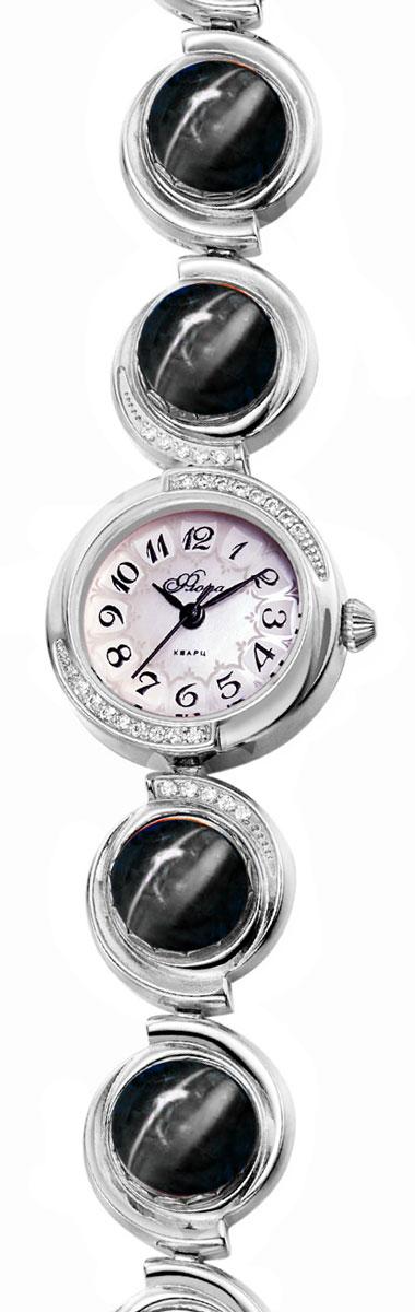 Часы женские наручные Mikhail Moskvin Флора, цвет: серебристый. 1138B6B1 Агат черн.1138B6B1 Агат черн.Часы Mikhail Moskvin серии Флора в ювелирном исполнении комплектуются натуральными камнями(Агат черный).