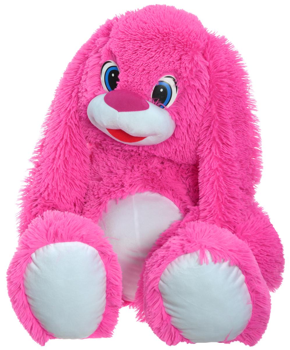 СмолТойс Мягкая игрушка Зайчонок цвет розовый 60 см1969-1/РЗ/100Мягкая игрушка СмолТойс Зайчонок будет радовать вас и вашего ребенка и разнообразит интерьер. Игрушка станет прекрасным подарком для вашего ребенка или близкого человека. Она изготовлена из качественных материалов, которые абсолютно безвредны для детей. Зайчонок ярко-розового цвета с длинными ушами подарит много сладких снов и хорошее настроение вам и вашему малышу.