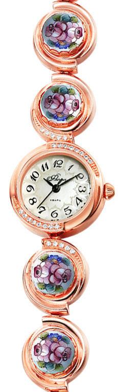 Часы женские наручные Mikhail Moskvin Флора, цвет: золотистый. Часы с финифтью Отрада 1138B8-B1Часы с финифтью Отрада 1138B8-B1Часы с финифтью (эмалевой миниатюрой), созданные высококвалифицированными художниками.