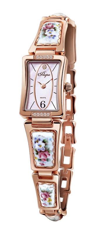 Часы женские наручные Mikhail Moskvin Флора, цвет: золотистый. Часы с финифтью Славянка 1142B8-B2 белаяЧасы с финифтью Славянка 1142B8-B2 белаяЧасы с финифтью (эмалевой миниатюрой), созданные высококвалифицированными художниками.