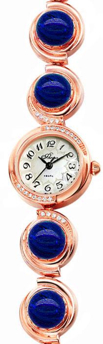 Часы женские наручные Mikhail Moskvin Флора, цвет: золотистый. 1138B8B1 Лазурит1138B8B1 ЛазуритЧасы Mikhail Moskvin серии Флора в ювелирном исполнении комплектуются натуральными камнями(Лазурит ).