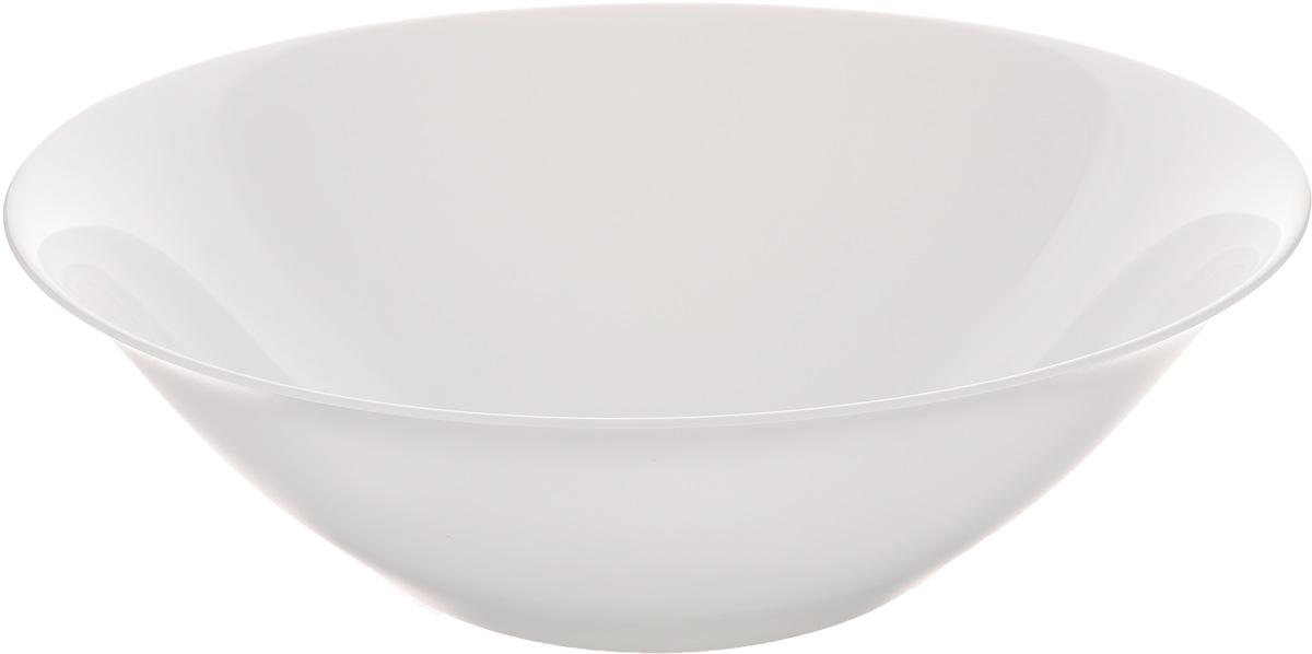 Салатник Luminarc Carine White, диаметр 27 смD2370Салатник Luminarc Carine White выполнен из ударопрочного стекла. Яркий дизайн придется по вкусу и ценителям классики, и тем, кто предпочитает утонченность и изысканность. Салатник Luminarc Carine White идеально подойдет для сервировки стола и станет отличным подарком к любому празднику. Диаметр (по верхнему краю): 27 см. Высота: 9 см.
