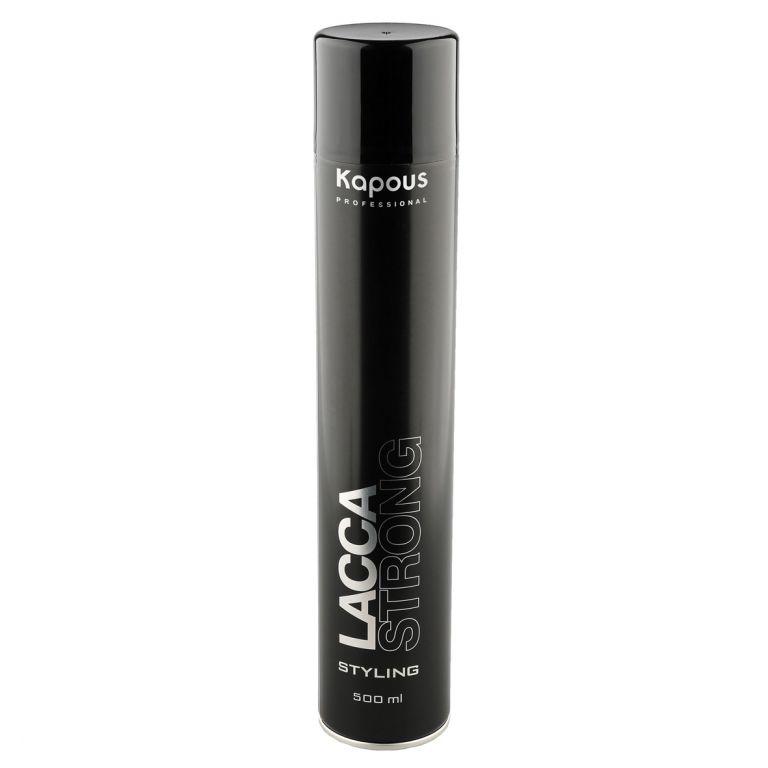 Kapous Professional Лак аэрозольный для волос сильной фиксации 500 мл16Лак аэрозольный для волос сильной фиксации Kapous. Экологический лак для волос сильной фиксации предназначен для фиксации оформленной прически. Идеален для создания подвижной укладки и придания объёма. Устойчив к влажности. Удаляется с волос несколькими взмахами расчески. Очень тонкое распыление. Результат: Быстро высыхает на волосах, прекрасно фиксирует их и придает здоровый блеск.