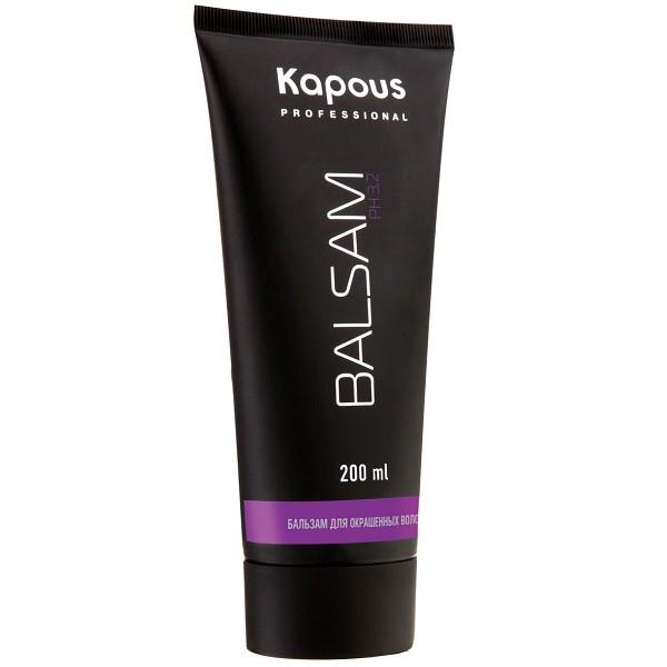 Kapous Professional Бальзам для окрашенных волос 200 мл49Бальзам Kapous для бережного ухода за окрашенными волосами придает волосам объем, блеск и жизненную силу, оживляет цвет и предотвращает сечение волос. Особая формула бальзама содержит инновационный стабилизатор цвета, поддерживающий интенсивность цвета и продлевающий стойкость окраски. Эфирные масла, входящие в состав бальзама смягчают, тонизируют и глубоко восстанавливают волосы от корней до самых кончиков. Масло макадамии оказывает эффективное защитное действие и способствует длительному сохранению насыщенного цвета и блеска окрашенных волос. Благодаря экстрактам листьев оливы регулируется жировой баланс, водный и минеральный обмен клеток кожи головы. Антистатическое действие бальзама способствует легкому расчесыванию, волосы приобретают мягкость. Солнечные фильтры защищают волосы от негативного воздействия внешних факторов и преждевременного выгорания цвета. Оптимальный для кожи уровень рН — 3,2 позволяет использовать его абсолютно для всех типов волос. Результат: Регулярное...