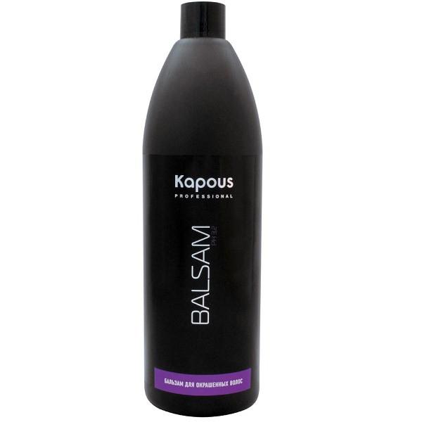 Kapous Professional Бальзам для окрашенных волос 1000 мл67Бальзам Kapous для бережного ухода за окрашенными волосами придает волосам объем, блеск и жизненную силу, оживляет цвет и предотвращает сечение волос. Особая формула бальзама содержит инновационный стабилизатор цвета, поддерживающий интенсивность цвета и продлевающий стойкость окраски. Эфирные масла, входящие в состав бальзама смягчают, тонизируют и глубоко восстанавливают волосы от корней до самых кончиков. Масло макадамии оказывает эффективное защитное действие и способствует длительному сохранению насыщенного цвета и блеска окрашенных волос. Благодаря экстрактам листьев оливы регулируется жировой баланс, водный и минеральный обмен клеток кожи головы. Антистатическое действие бальзама способствует легкому расчесыванию, волосы приобретают мягкость. Солнечные фильтры защищают волосы от негативного воздействия внешних факторов и преждевременного выгорания цвета. Оптимальный для кожи уровень рН — 3,2 позволяет использовать его абсолютно для всех типов волос. Результат: Регулярное...