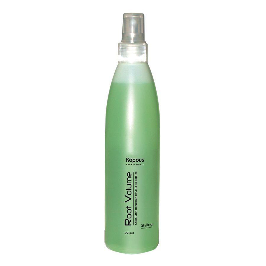Kapous Professional Спрей для придания объёма на корнях «Root Volume» 250 мл78Спрей для придания объёма на корнях «Root Volume» Kapous это укладочное средство для моделирования причесок любой степени сложности и объема. Легко распределяется по волосам и быстро сохнет. Может использоваться на сухих и на влажных волосах. Средство сочетающее в себе укладку и уход за волосами создает объем непосредственно у корней волос, обеспечивает влагостойкую, длительную фиксацию. Образуя на поверхности волоса микропленку, он препятствует потери влаги и защищает волос от неблагоприятных воздействий окружающей среды. Спрей укрепляет волосы и обеспечивает стойкость укладки. Защищает волосы от повреждений при использовании фена или щипцов, сохраняет естественный блеск. Предотвращает наэлектризованность волос. Спрей «Root Volume» не содержит спирта и не сушит кожу головы, идеально подходит для стайлинга, для тонких, редких и безжизненных волос. Результат: Надежная фиксация, дополнительная поддержка волос у корней и объем по всей длине. Волосы становятся гуще, пышнее и выглядят...
