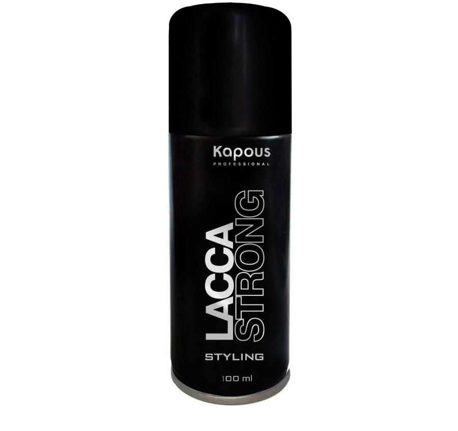 Kapous Professional Лак аэрозольный для волос сильной фиксации 100 мл82Лак аэрозольный для волос сильной фиксации Kapous. Экологический лак для волос сильной фиксации предназначен для фиксации оформленной прически. Идеален для создания подвижной укладки и придания объёма. Устойчив к влажности. Удаляется с волос несколькими взмахами расчески. Очень тонкое распыление. Результат: Быстро высыхает на волосах, прекрасно фиксирует их и придает здоровый блеск.