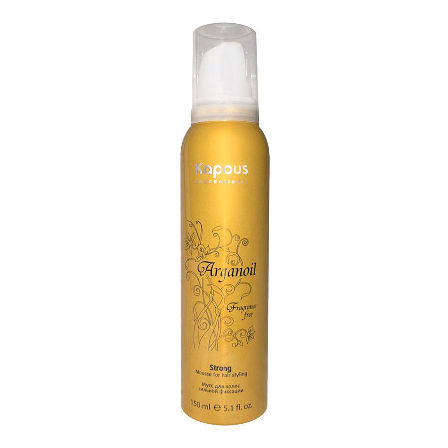 Kapous Мусс аэрозольный для волос сильной фиксации с маслом арганы Arganoil 150 мл (Kapous Professional)