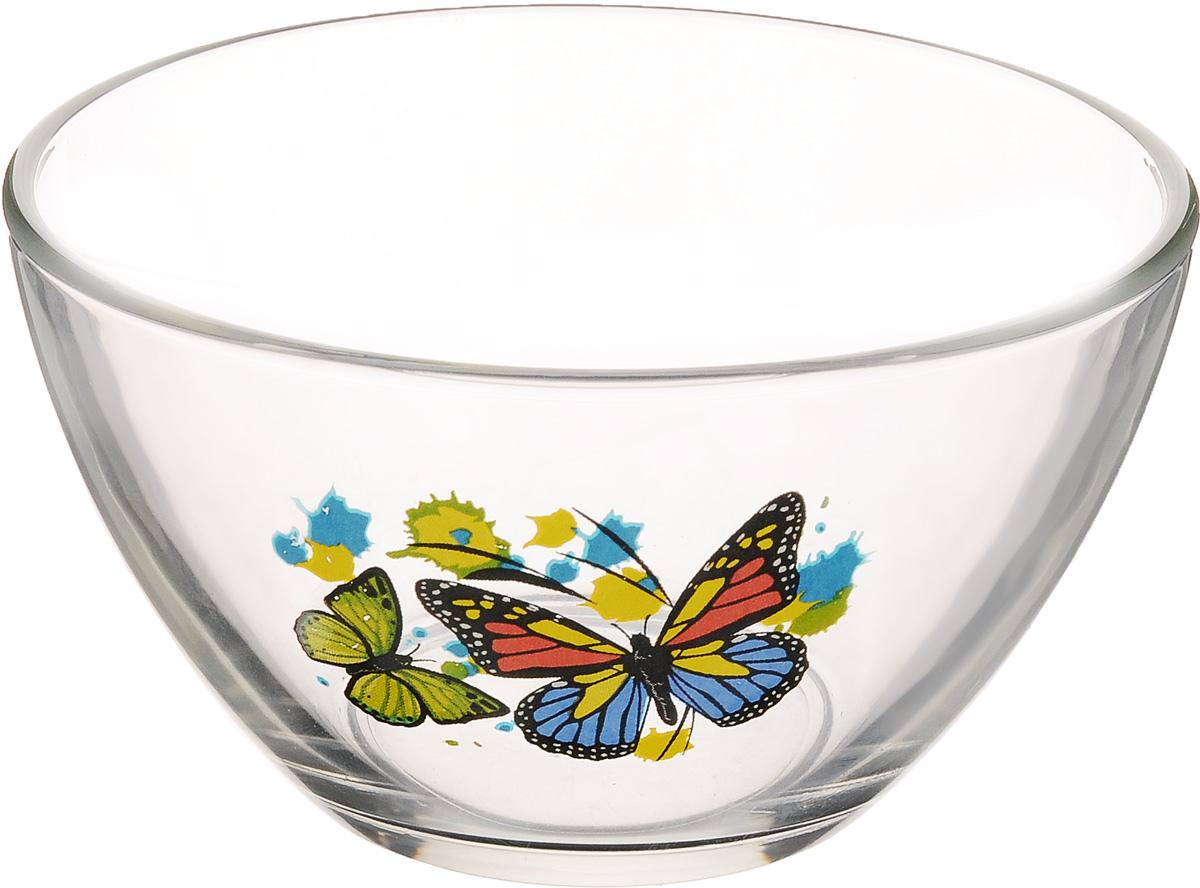 Салатник OSZ Танец бабочек, цвет: синий, зеленый, желтый, диаметр 13 см10с1542 ДЗ Танец Б микс_бабочки синий, зеленый, желтыйСалатник OSZ Танец бабочек изготовлен из бесцветного стекла и украшен ярким рисунком. Идеально подходит для сервировки стола. Салатник не только украсит ваш кухонный стол и подчеркнет прекрасный вкус хозяйки, но и станет отличным подарком. Диаметр салатника (по верхнему краю): 13 см. Диаметр основания: 6 см. Высота салатника: 7 см.