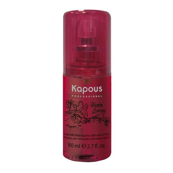 Kapous Флюид для секущихся кончиков волос с биотином Biotin Energy 80 млKap619Флюид Kapous Professional Biotin Energy позволяет быстро решить проблему хрупкости и сечения кончиков. Именно эта часть волос более всего подвержена негативному внешнему воздействию и чаше всего нуждается в дополнительном питании. В основе средства лежит сочетание трех сильных и эффективных компонентов – масла льна, биотина и UV-фильтров. Масло льна отличается прекрасными обволакивающими качествами, окутывает каждый волосок тончайшей микропленкой из аминокислот и витаминов, словно запаивает посеченные кончики, наполняет их силой и гладкостью. Биотин благотворно воздействует на структуру волосяного стержня, укрепляет изнутри, способствует увлажнению и поддерживает оптимальный гидробаланс. UV-фильтры предупреждают фотостарение и солнечную инсоляцию, защищают пряди на протяжении дня. Флюид Biotin Energy от Капус идеально подходит для работы с окрашенными локонами. Входящие в его состав компоненты не только отлично справляются с главной задачей – лечением ослабленных кончиков, но и...