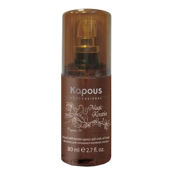 Kapous Флюид для секущихся волос с кератином Magic Keratin 80 млKap620Серия «Fragrance free» не имеет парфюмированных добавок. Биоактивные аминокислоты Кератина повышают упругость волос, предотвращая расщепление концов волос. УФ-фильтры защищают от воздействия внешних факторов.
