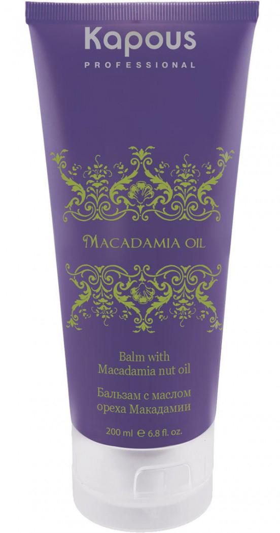 """Kapous Маска для волос с маслом ореха макадамии Macadamia Oil 150 млKap895Питательная маска серии """"Macadamia Oil"""" с маслом Макадамии восстанавливает структуру волоса и придает силу волосам после окрашивания, различных химических процедур, а также пострадавших от воздействия внешних факторов. Маска с маслом ореха Макадамии имеет легкую консистенцию, поэтому равномерно распределяется по длине волос и выравнивает структуру. Действие: - входящее в состав масло Макадамии способствует регенеации обменных процессов, смягчает и увлажняет волосы - активные антиоксиданты препятствуют скоплению свободных радикалов - протеины пшеницы укрепляют стержень волос, а также предотвращают рассечение кончиков. Результат: - после цикла масок разница волос на кончиках и у корней становится не очивидной - волосам возвращается жизненная сила, здоровый и ухоженный вид."""
