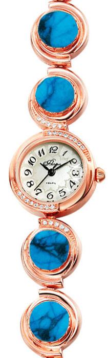 Часы женские наручные Mikhail Moskvin Флора, цвет: золотистый. 1138B8B1 Бирюза1138B8B1 БирюзаЧасы Mikhail Moskvin серии Флора в ювелирном исполнении комплектуются натуральными камнями(Бирюза ).