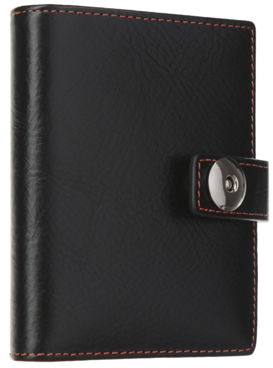 Визитница мужская Leo Ventoni, цвет: черный. L330835L330835 neroСтильная визитница от Leo Ventoni выполнена из натуральной кожи и дополнена металлической фурнитурой. Изделие раскладывается пополам и закрывается хлястиком на металлический замок. Внутри шестнадцать кармашков из ПВХ для визиток, четыре кармашка для кредитных карт и один боковой карман для мелочей. Изделие поставляется в фирменной упаковке. Визитница Leo Ventoni станет отличным подарком для человека, ценящего качественные и практичные вещи.
