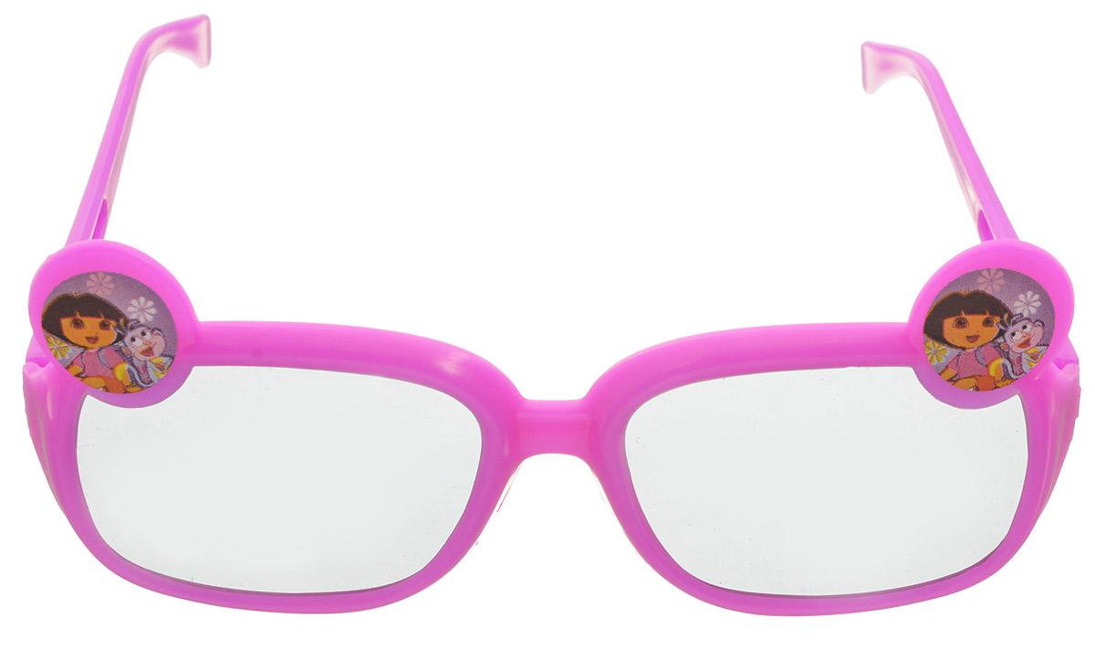 Веселая затея Очки солнцезащитные детские Даша-путешественница цвет розовый1501-2349_розовыйОчки солнцезащитные детские Веселая затея Даша-путешественница - это веселые очки, украшенные изображением Даши и обезьянки. Ультрамодный и полезный аксессуар для маленькой модницы. Их пластиковые линзы надежно защищают глаза от ультрафиолетовых лучей, особенно опасных для детских нежных хрусталиков. Удобные дужки комфортно прилегают к голове и почти не ощущаются.