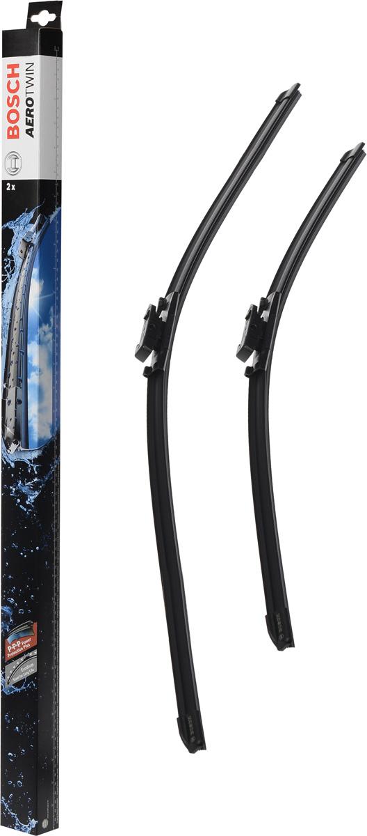 Комплект щеток стеклоочистителя Bosch Aerotwin A862S, 600 мм/530 мм, бескаркасные, 2 шт