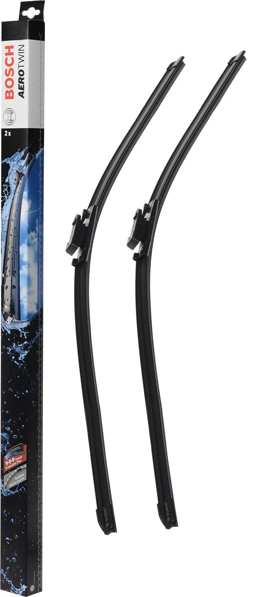 Комплект щеток стеклоочистителя Bosch Aerotwin A825S, 600 мм, бескаркасные, 2 шт