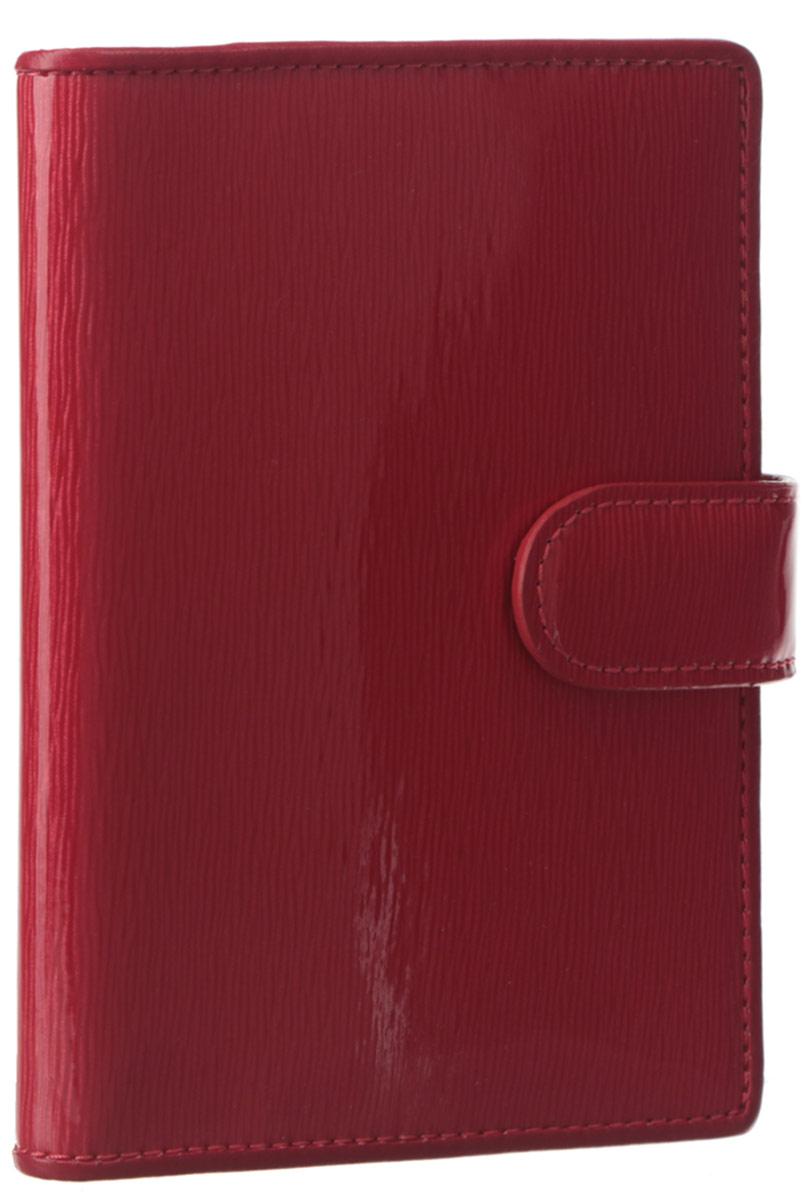 Обложка для паспорта женская Leo Ventoni, цвет: красный. L330840L330840 rossoСтильная обложка для паспорта Leo Ventoni выполнена из натуральной лаковой кожи и дополнена металлической фурнитурой. Изделие раскладывается пополам и закрывается хлястиком на кнопку. Подкладка из полиэстера. Внутри размещены два боковых кармана для паспорта и четыре кармана для кредитных карт. Изделие поставляется в фирменной упаковке. Оригинальная обложка для документов Leo Ventoni станет отличным подарком для человека, ценящего качественные и практичные вещи.