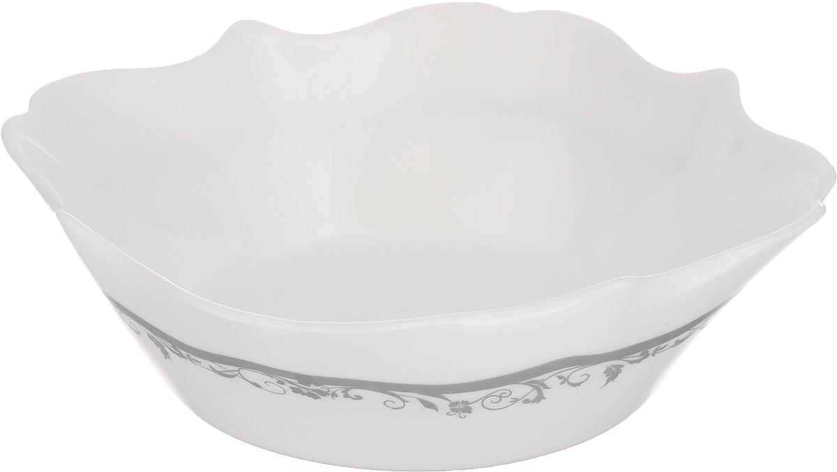Миска Luminarc Authentic Silver, диаметр 16 х 16 смH8385Миска Luminarc Authentic Silver выполнена из высококачественного стекла. Изделие сочетает в себе изысканный дизайн с максимальной функциональностью. Она прекрасно впишется в интерьер вашей кухни и станет достойным дополнением к кухонному инвентарю. Миска Authentic Silver подчеркнет прекрасный вкус хозяйки и станет отличным подарком. Размер миски (по верхнему краю): 16 х 16 см. Высота стенки: 6 см.