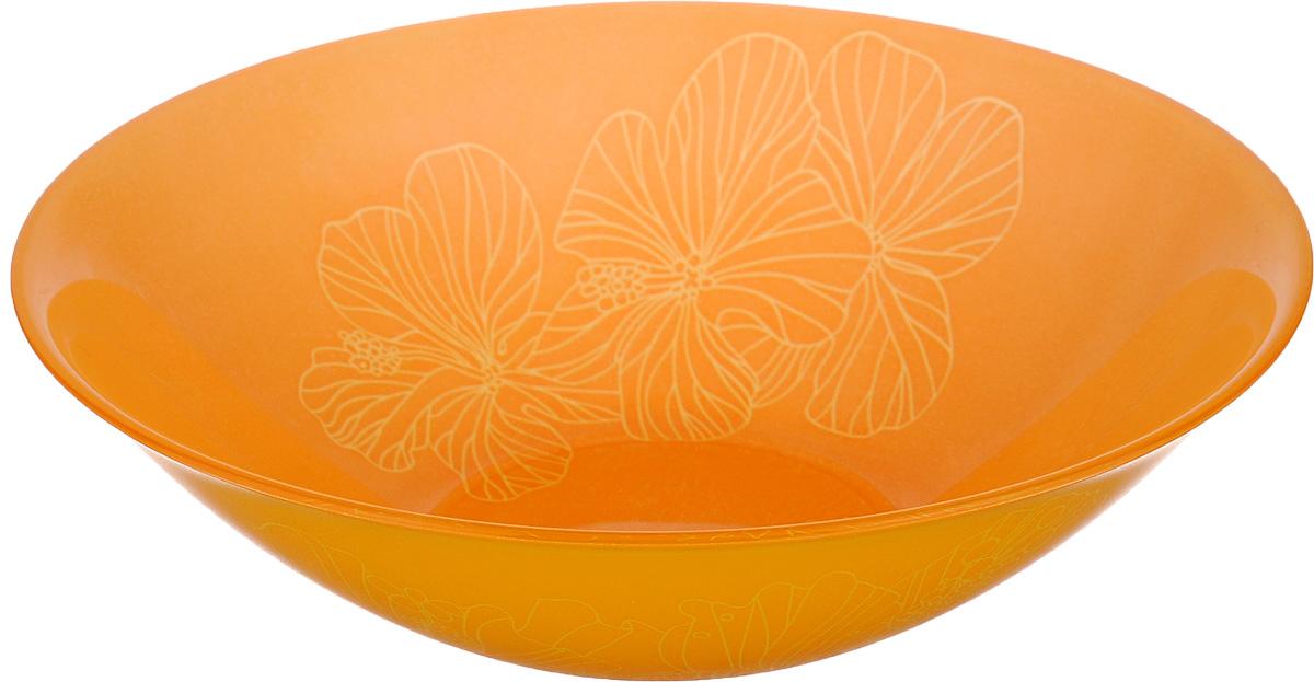 Миска Luminarc Rhapsody, диаметр 16,5 смH8728Миска Luminarc Rhapsody выполнена из высококачественного стекла. Изделие сочетает в себе изысканный дизайн с максимальной функциональностью. Она прекрасно впишется в интерьер вашей кухни и станет достойным дополнением к кухонному инвентарю. Миска Rhapsody подчеркнет прекрасный вкус хозяйки и станет отличным подарком. Диаметр миски (по верхнему краю): 16,5 см. Высота стенки: 5 см.