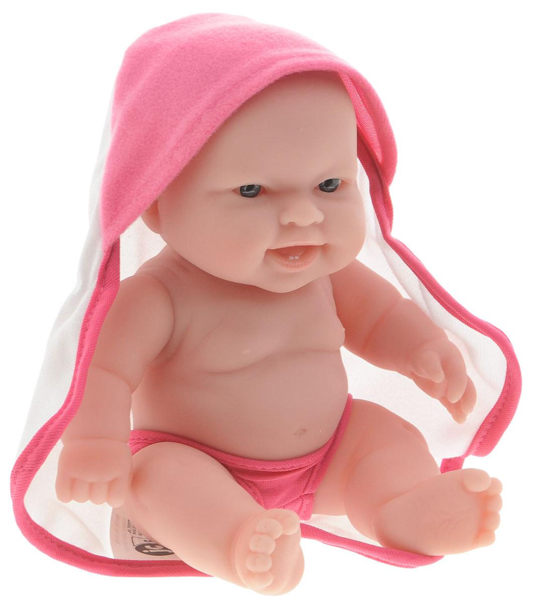 JC Toys Пупс цвет одежды розовый белый16822_розовый,белыйПупс JC Toys непременно приведет в восторг вашу дочурку. Пупс выполнен из высококачественных и безопасных материалов. Симпатичный пупс одет в розовые трусики и накидку с капюшоном. Руки, ноги и голова куклы подвижны, что позволяет придавать ей разнообразные позы. Игры с куклой способствуют эмоциональному развитию, помогают формировать воображение и художественный вкус, а также разовьют в вашей малышке чувство ответственности и заботы. Великолепное качество исполнения делают этот набор чудесным подарком к любому празднику.