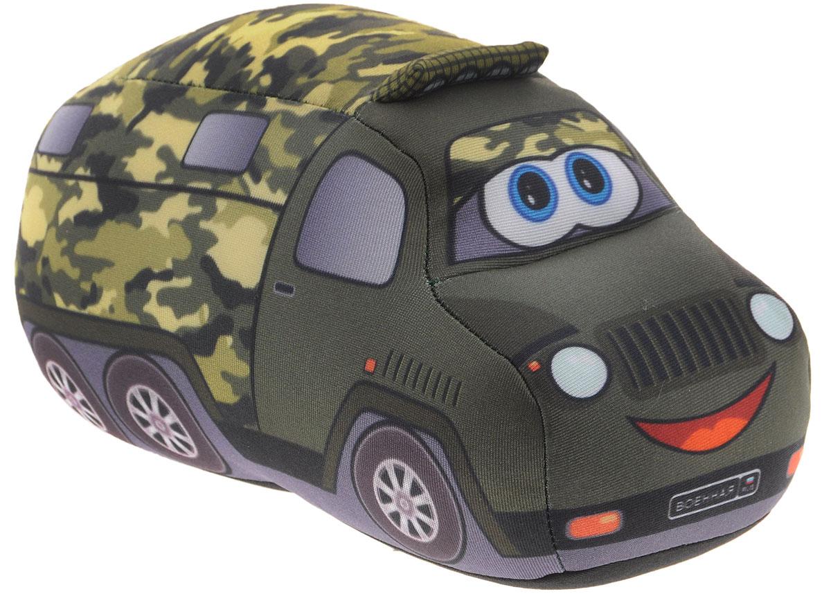 СмолТойс Мягкая игрушка-антистресс Служебная машина 19 см2820/ЗЛ/18Мягкая игрушка-антистресс СмолТойс Служебная машина поможет прогнать усталость, хандру и плохое настроение. Игрушка выполнена в виде веселой военной машины. Изнутри игрушка наполнена шариками полистирола, которые так приятно прощупывать сквозь ткань. Это успокаивает ребенка, настраивает его на позитивный лад. Мягкая игрушка-антистресс СмолТойс Служебная машина произведена из экологичных материалов и абсолютно безопасна как для вас, так и для вашего малыша.