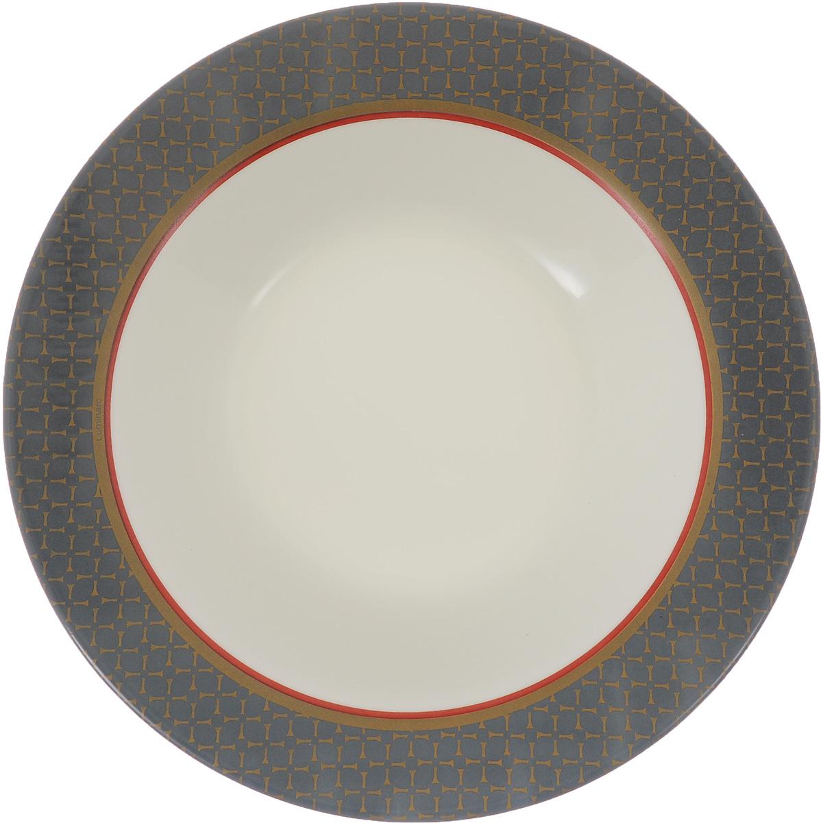 Тарелка глубокая Luminarc Alto Saphir, диаметр 21,8 смJ1933Глубокая тарелка Luminarc Alto Saphir выполнена из ударопрочного стекла и оформлена ярким рисунком. Изделие сочетает в себе изысканный дизайн с максимальной функциональностью. Она прекрасно впишется в интерьер вашей кухни и станет достойным дополнением к кухонному инвентарю. Тарелка Luminarc Alto Saphir подчеркнет прекрасный вкус хозяйки и станет отличным подарком. Диаметр (по верхнему краю): 21,8 см. Высота тарелки: 3,5 см.