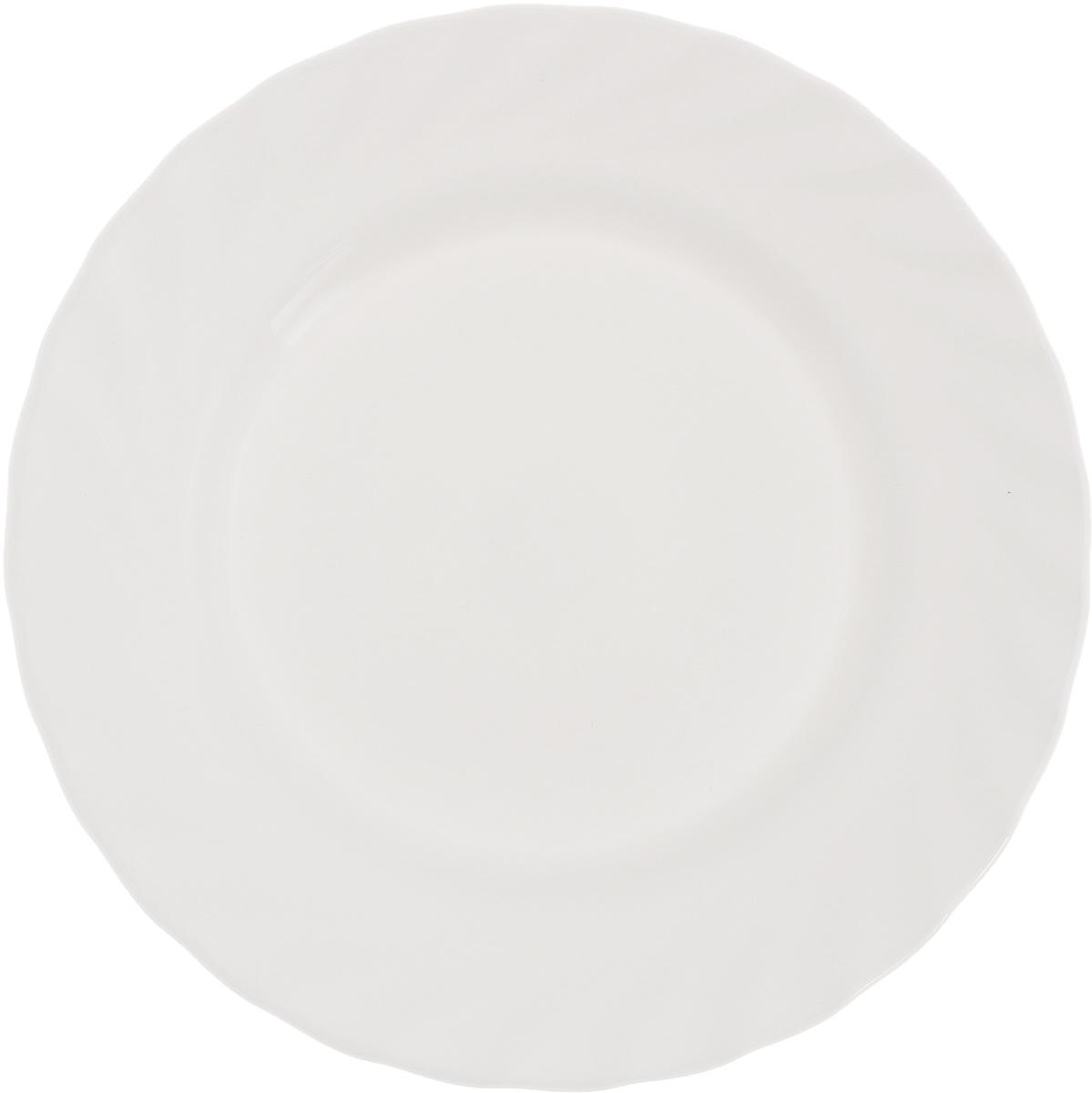 Тарелка десертная Luminarc Trianon, диаметр 19,5 смH4124Десертная тарелка Luminarc Trianon, изготовленная из ударопрочного стекла, имеет изысканный внешний вид. Такая тарелка прекрасно подходит как для торжественных случаев, так и для повседневного использования. Идеальна для подачи десертов, пирожных, тортов и многого другого. Она прекрасно оформит стол и станет отличным дополнением к вашей коллекции кухонной посуды. Диаметр тарелки (по верхнему краю): 19,5 см. Высота тарелки: 1,7 см.