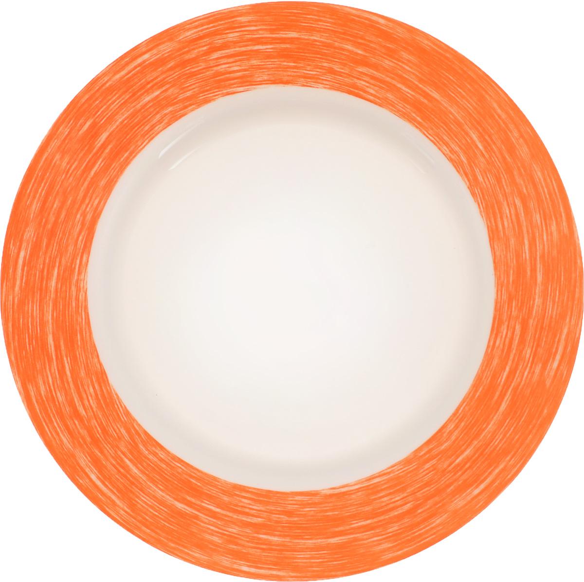 Тарелка Luminarc Color Days, цвет: белый, оранжевый, диаметр 24 смL1512Тарелка Luminarc Color Days, изготовленная из ударопрочного стекла, декорирована оригинальным изображением. Такая тарелка прекрасно подходит как для торжественных случаев, так и для повседневного использования. Идеальна для подачи десертов, пирожных, тортов и многого другого. Она прекрасно оформит стол и станет отличным дополнением к вашей коллекции кухонной посуды. Диаметр тарелки (по верхнему краю): 24 см. Высота тарелки: 3 см.