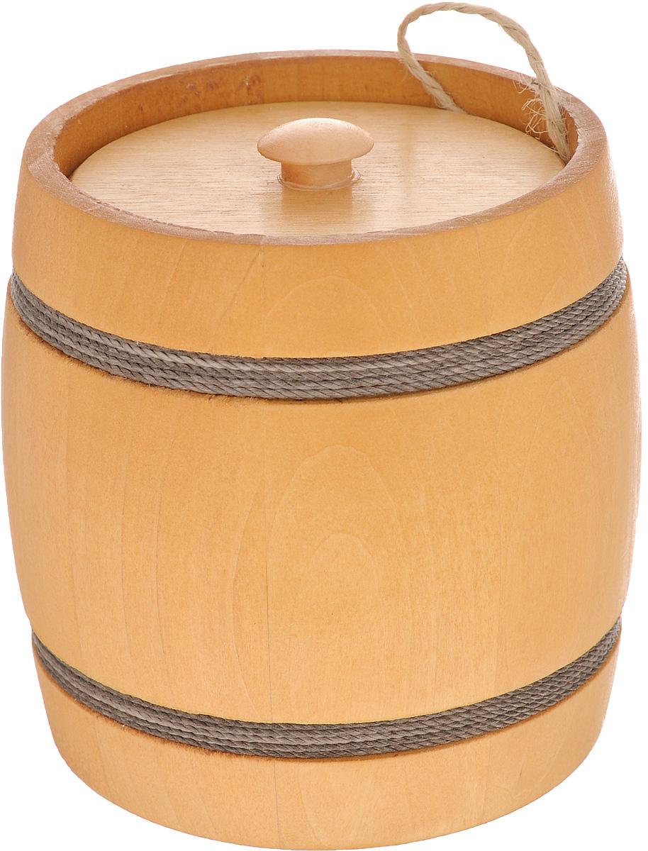 Бочонок вощенный Proffi Home, диаметр 12 см, 0,3 лPH1236Вощенный бочонок Proffi Home изготовлен из липы. Он прекрасно впишется своим дизайном в интерьер. Липовый бочонок является одним из лучших среди бондарных изделий для хранения продуктов, в особенности меда. Вы можете быть уверенными, что в такой емкости содержимое не теряет свой аромат и вкусовые качества. Главное достоинство в том, что все полезные свойства продуктов остаются в сохранности. Объем бочонка: 0,3 л. Высота бочонка: 11 см. Диаметр бочонка (по верхнему краю): 10 см.