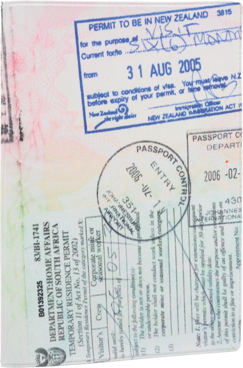 Обложка для паспорта Mitya Veselkov Загран, цвет: серый, бледно-розовый, бледно-зеленый. OZAM120OZAM120Обложка для паспорта Mitya Veselkov Загран не только поможет сохранить внешний вид ваших документов и защитить их от повреждений, но и станет стильным аксессуаром, идеально подходящим вашему образу. Обложка выполнена из поливинилхлорида и оформлена изображением регистрационных печатей разных стран. Внутри имеет два вертикальных кармана из прозрачного пластика. Такая обложка поможет вам подчеркнуть свою индивидуальность и неповторимость! Обложка для паспорта стильного дизайна может быть достойным и оригинальным подарком.