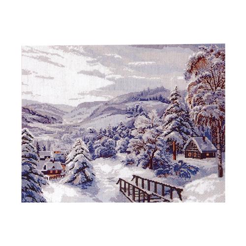 Набор для вышивания Hobby&Pro Зимушка-зима, 42 х 34 см554045Набор для вышивания Hobby & Pro Зимушка зима поможет вам создать свой личный шедевр - красивую картину, вышитую нитками мулине в технике счетный крест. Работа, выполненная своими руками, станет отличным подарком для друзей и близких! В набор входит: - белая канва Aida 16 (6 клеток в см); - нитки мулине Bestex (21 цвет); - игла; - цветная схема; - инструкция на русском языке.
